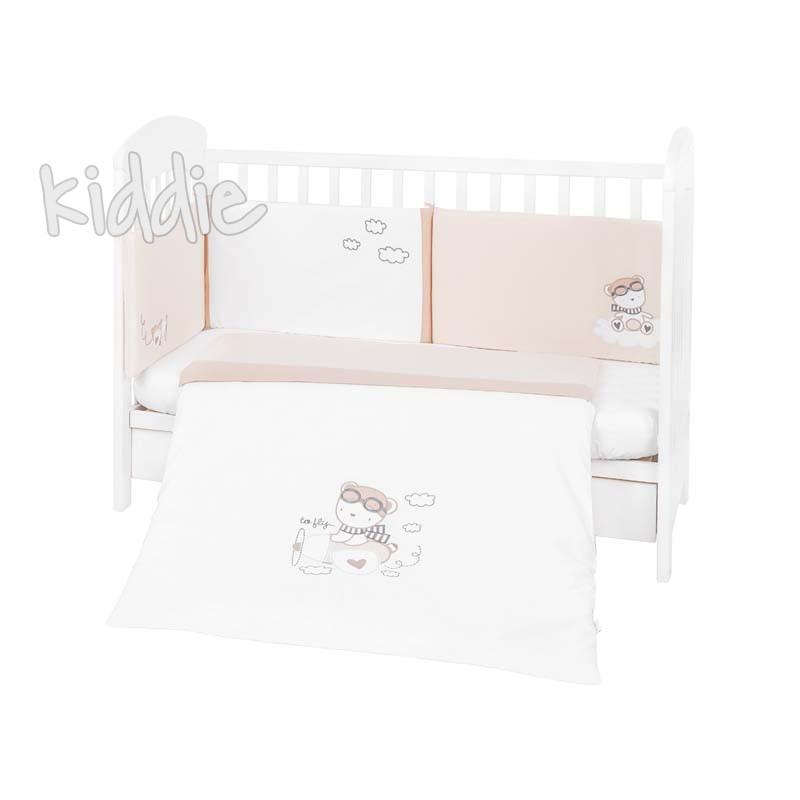 Set dormitor 2 piese Kikka Boo EU style 70х140 cu broderie Dreamy Flight