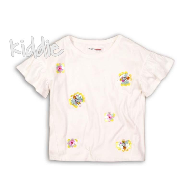 Tricou fete Minoti cu aplicatie din paiete