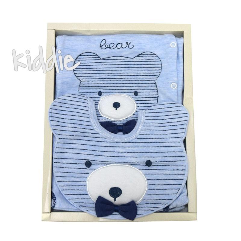 Set externare bebe in dungi Gaye Bear 5 piese bebe
