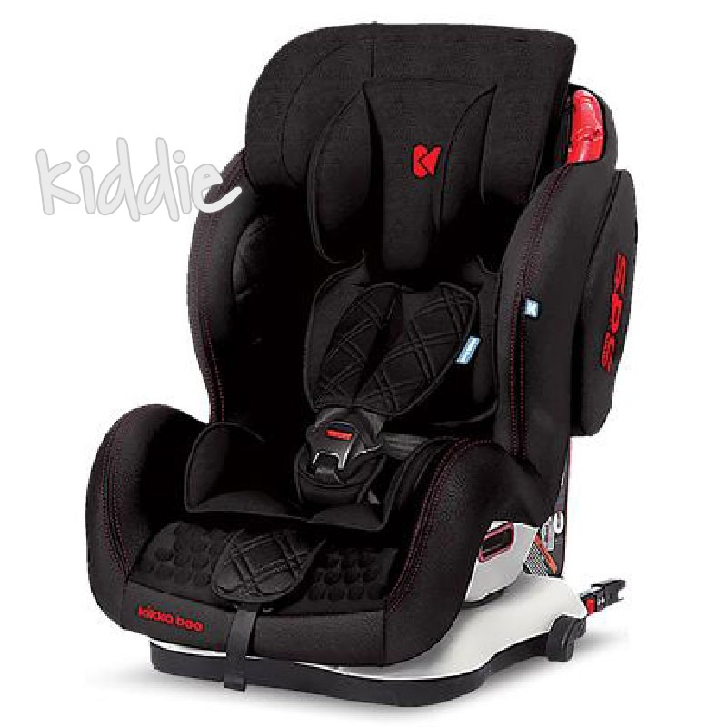 Kikka Boo scaun auto 1,2,3 9-36 kg Major Black Isofix