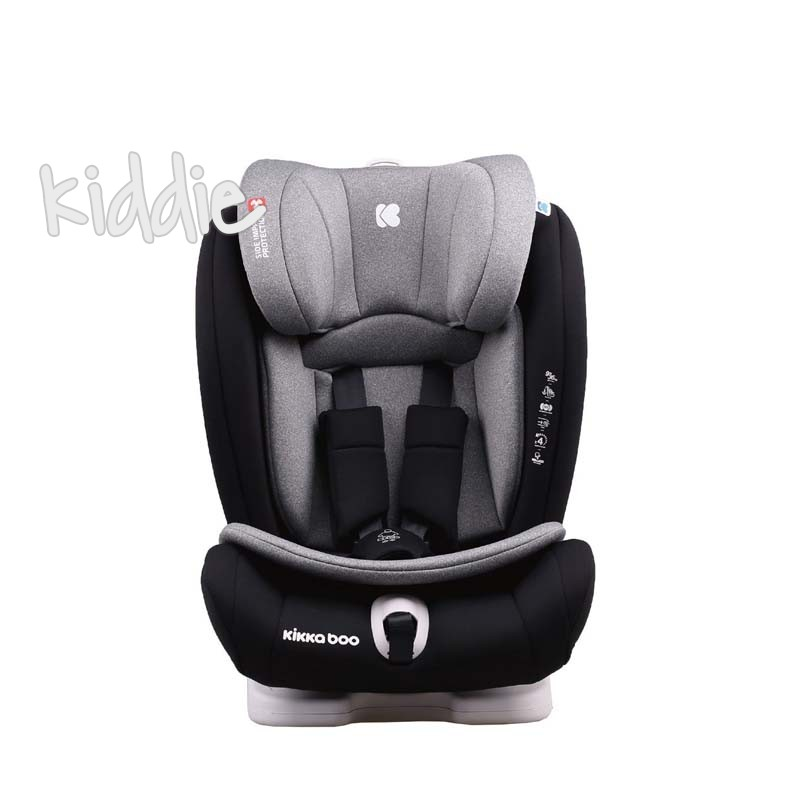 Kikka Boo  1-2-3  Viaggio Light Grey 2020 scaun auto