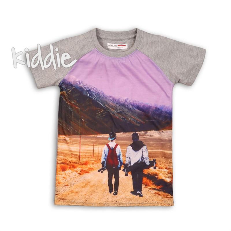 Tricou cu print Minoti pentru baiat