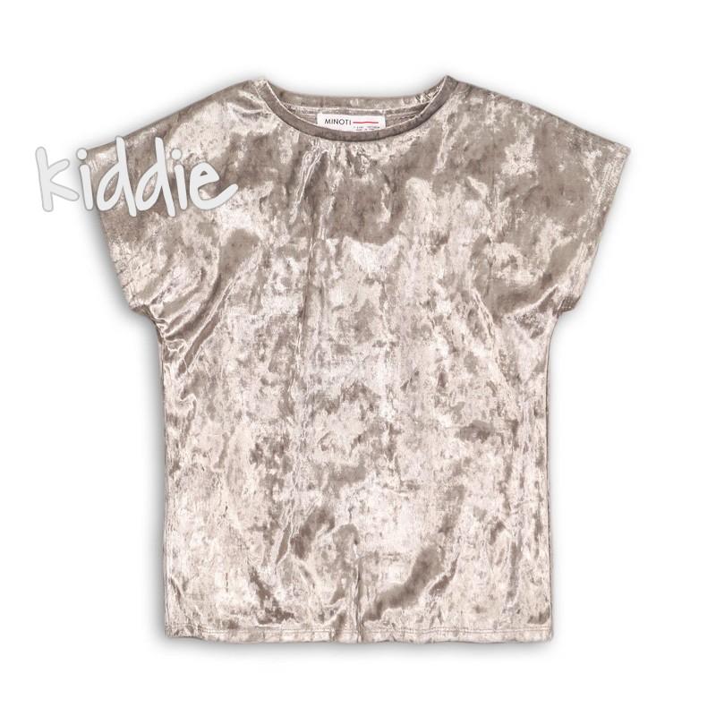 Tricou de catifea Minoti pentru fata