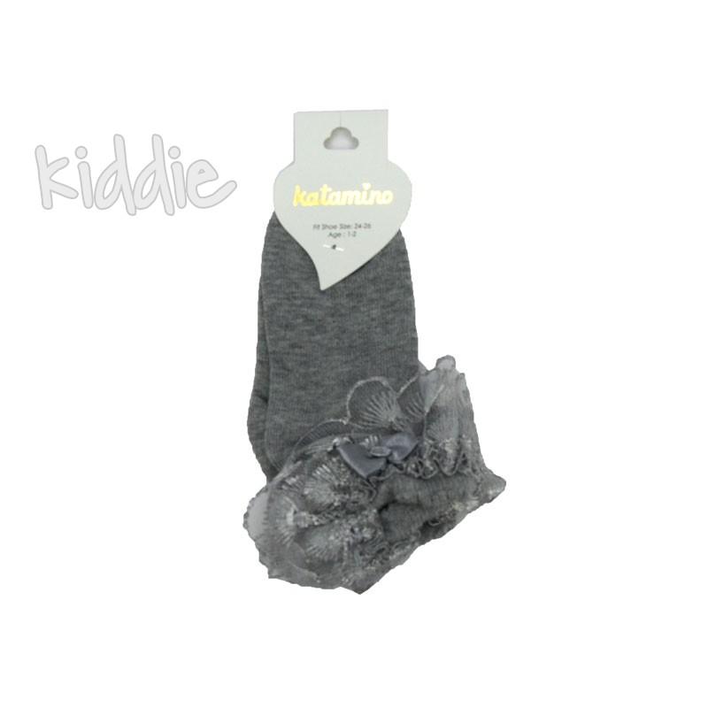 Ciorapi cu dantela si elemente decorative Katamino fete